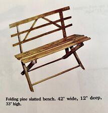 Americana rare handmade antique folding bench26Wx23Hx12D