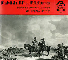 "TCHAIKOVSKY 1812 & Hamlet Overtures 12"" LP Adrian Boult UK Decca ACL 10 Excellnt"