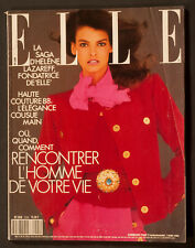 'ELLE' FRENCH VINTAGE MAGAZINE LINDA COVER 7 MARCH 1988