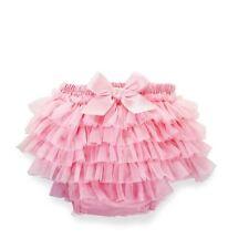 NWT Mud Pie Pink Chiffon Ruffle Diaper Cover Bloomers Small Newborn 0 6 M Girls