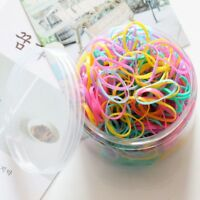 500pcs/Bag Small Mini Hair Elastics Mini Elastic Rubber Bands for Braids Beauty