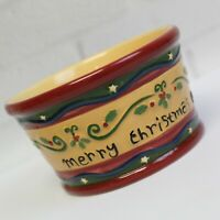 Teresa Kogut Merry Christmas Holiday Dip Serving Bowl Park Designs Hand Painted
