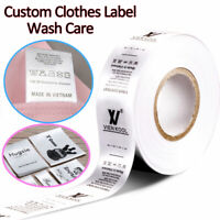Personalized Clothes Name Label Tag Sew In Garment Satin Ribbon Custom Brand DIY