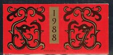 China P.R. 1988 Year of the Dragon Booklet complete