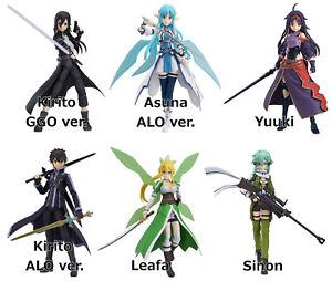 figma Kirito Asuna Yuuki Leafa Sinon Sword Art Online 2 action figure MaxFactory