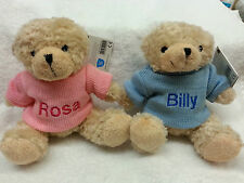 PERSONALISED TEDDY BEAR NEW BABY BIRTH BIRTHDAY EASTER EMBROIDERED  GIFT PRESENT