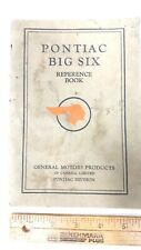 1929 PONTIAC Big Six  - Owners Manual - Good Condition - (CDN)