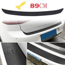 Black 4D Carbon Fiber Auto Rear Bumper Trunk Tail Lips Protect Decal Sticker