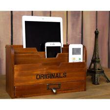 3Holztasche Schreibtisch Briefhalter Briefbox Briefständer Briefablage 29x17,5cm