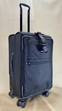 Used Tumi Front Lid Expandable 4 Wheeled Long Distance Suitcase Black 22065DH