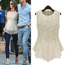 Casual Shirt Ladies Blouse Celebrity Vest Boho Fashion Top UK Sz 6-18 White 14