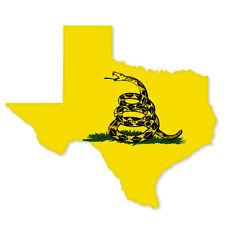 """New listing Texas Gadsden Flag car bumper sticker window decal 5"""" x 4"""""""