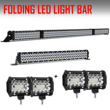"""54Inch LED Light Bar Combo + 20in +4"""" Cube PODS OFFROAD 4WD ATV For FORD JEEP 52"""