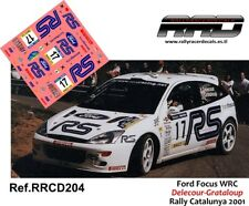 DECAL/CALCA 1/43; Ford Focus WRC; Delecour-Grataloup; Rally Catalunya 2001