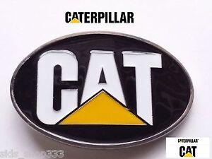 ♈BGC4 CAT CATERPILLAR Belt Buckle ♈ black yellow color Gold rush Construction