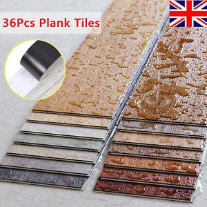 UK Floor Planks Tiles Self Adhesive Wood Effect Vinyl Flooring Kitchen Bathroom