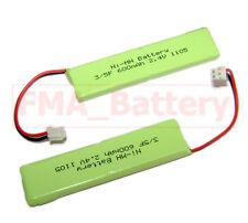 2Pcs FMA Ni-MH 2.4V 600mAh Cordless Phone Battery iDect X3i 2SN-3/5F60H-H-JP2
