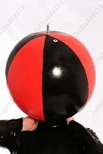 588 Latex Rubber Gummi Inflatable circus Ball Mask Hood customized catsuit 0.4mm