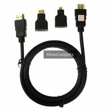 Full HD 1080P HDMI Cable Adaptor 3 in 1 Kit For Digicam Tablet PC Monitor Phone