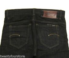 Mens G Star Raw Slim Skinny Straight Jeans in Clip Rinsed Pilled Indigo sz 31