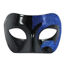 Mystic Blue Glitter & Black Venetian Masquerade Mask ~ Mardi Gras Wedding Prom