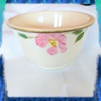 "Vintage Franciscan Desert Rose Hand Painted Mixing Bowl Pink Flowers 7-1/2"" USA"