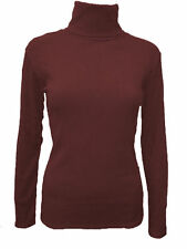 Women's No Pattern Fitted Hip Length Polo Neck Tops & Shirts