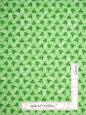 Frog Toad Ribbit Toss Green with Silver Glitter Cotton Fabric Traditions - Yard
