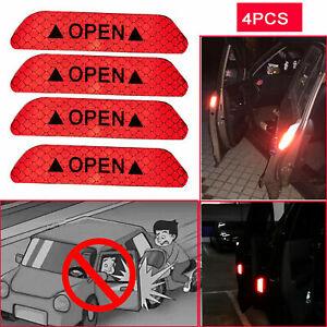 4X Super Car Door Open ff gfsr Reflective Tape Safety  fesfsdfdsf