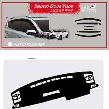 Smoke Weather shields with Anti-Slip Dash mat for 02/2013 - 2017 Toyota RAV4