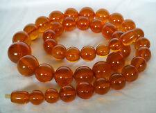 Antique Authentic Baltic 54 cm Amber Butterscotch  Honey Bead Necklace 48 grams