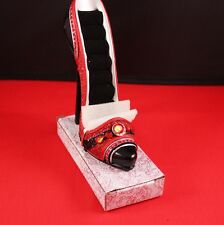 "Beautiful Vanity Decor!  New 5"" Red Stiletto Ring Jewelry Holder Resin Shoe Pump"