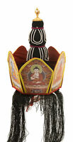 Couronnes Tibetano Coiffre Cerimonia Rituale Buddista Monaco Budda Tibet 26150