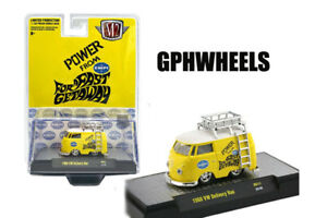 M2 MACHINES 1960 VOLKSWAGEN VW KOMBI DELIVERY BUS EMPI RACING -Yellow. MIP