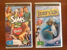 SONY PSP GAMES THE SIMS 2 PETS And Surf'S UP