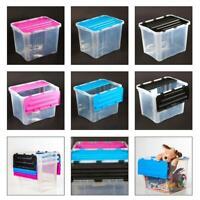 Aufbewahrungsbox Klapp Deckel 42 L Kunststoffboxen Box Boxen Kisten Stapelboxen