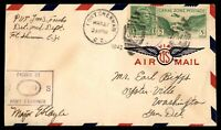 CANAL ZONE FORT SHERMAN US ARMY PRIVATE MARCH 27 1942 PURPLE CENSORED AIR MAIL C