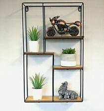 New Modern Rectangular Wooden Floating Wall Shelves Bathroom Shelving Unit Black