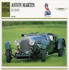 1932-1934 ASTON MARTIN Le Mans Sports Classic Car Photo/Info Maxi Card