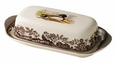 Spode woodland covered butter