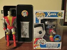 """X-Men 2016 Stan Lee Comikaze Ex """"(Chrome) Colossus #183"""" & Ltd Edt Statue figure"""