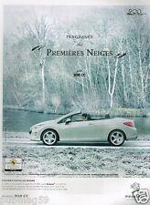 Publicité advertising 2010 Peugeot 308 CC