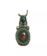 """MICHAL NEGRIN JEWELED  PENDANT NECKLACE ~ 18"""""""