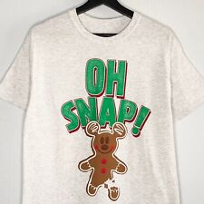 Disney Parks Holiday Shirt Gingerbread Cookie Mickey Mouse Oh Snap Adult Large