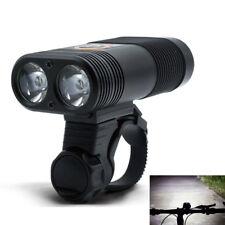 2LEDs Fahrradlampe Fahrradbeleuchtung USB Wiederaufladbare 800LM Fahrradlicht