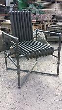 Reclaimed Original Cast Iron Radiator Chair Unique Retro Hand Made