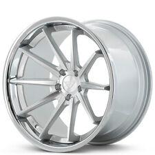 "4ea 19x10.5"" Ferrada Wheels FR4 Silver Machined with Chrome Lip Rims(S3)"