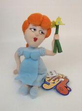 """2000 The Adventures of Bullwinkle & Friends 6"""" Nell Fenwick Plush Stuffed Toy"""