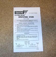 Scalextric KIT K/705 Soporte espectador copia hoja de instrucciones
