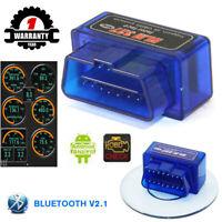 HOT ELM 327 Bluetooth V2.1 OBD2 OBDII Car Diagnostic Auto Scanner Code Reader
